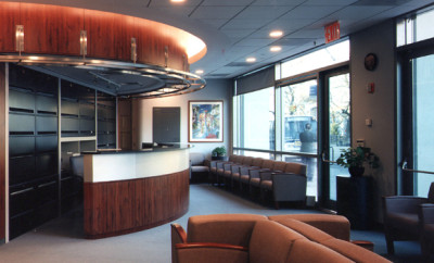 healthcare lobby design by gran kriegel architects in nyc