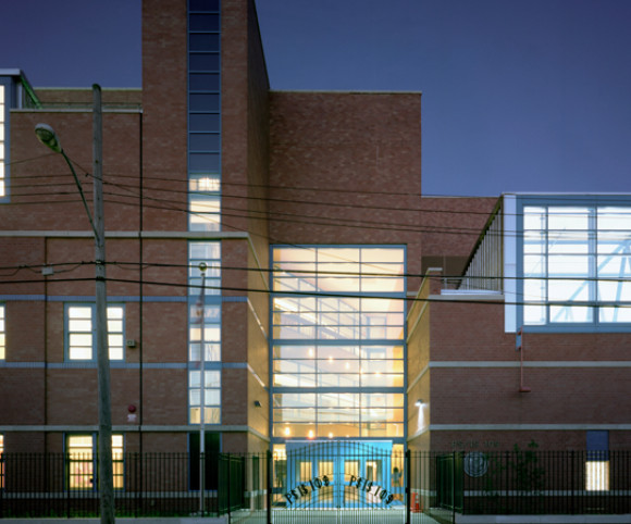 school design by gran kriegel architects in nyc ps 109 exterior