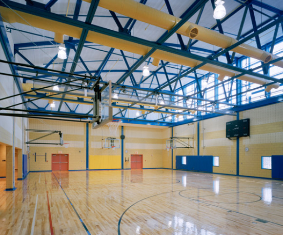 school gymnasium design by gran kriegel architects in nyc