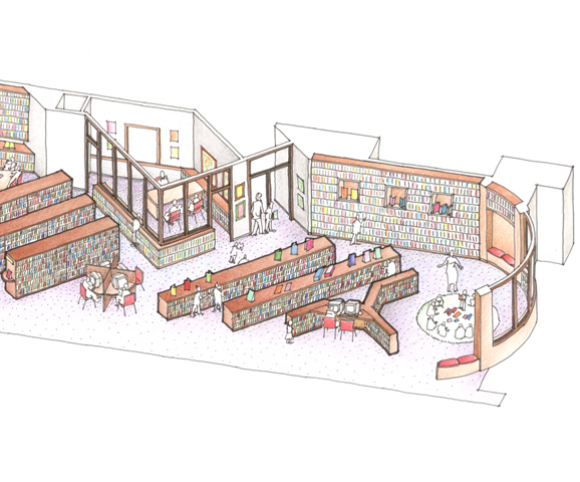 library design for bank street college of education in nyc by grank kriegel architects