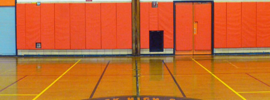 bushwick high school gymnasium remodeling by designers Gran Kriegel Architects in nyc