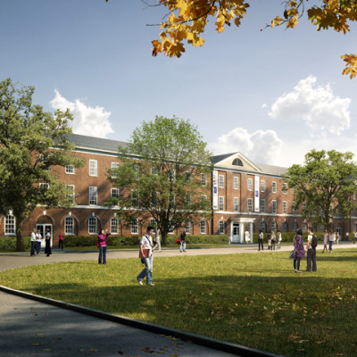 Architectural Feasibility Study Rendering for Great Oaks Charter School by Gran Kriegel Architects in NYC