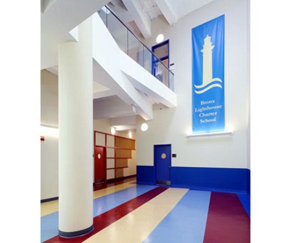 elementary charter school design and adaptive reuse project by school architecture firm Gran Kriegel in NYC