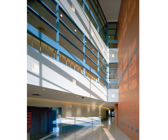 school corridor interior design by Gran Kriegel Architects in NY