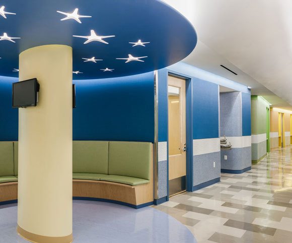 corridor manhattan star academy interior retrofit special needs school design by Gran Kriegel Architects in nyc