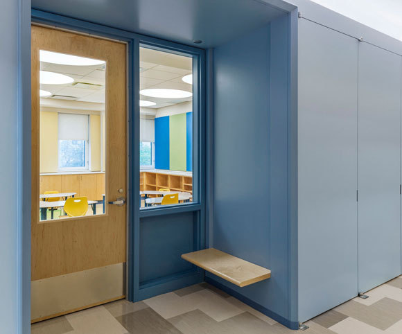 special needs classroom design for Manhattan Star Acaemy by school architecture firm Gran Kriegel Architects in NYC