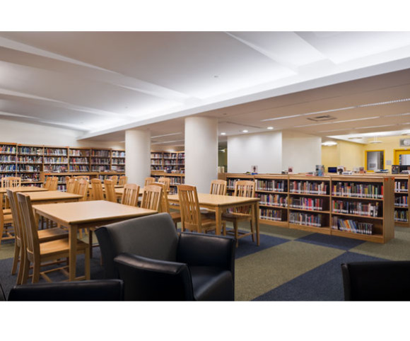 library for k-12 school design - major adaptive reuse project by Gran Kriegel Architects in NYC