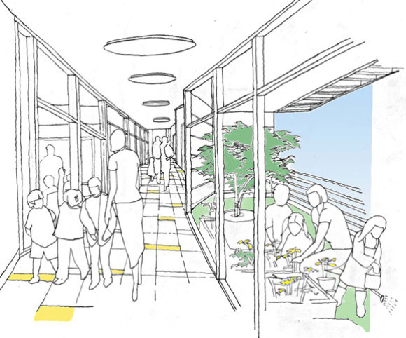 schematic best design for charter school in NYC designed by Gran Kriegel Architects