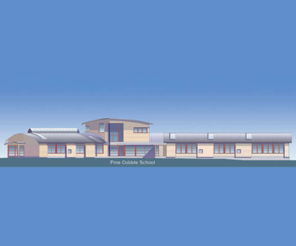 site planning elevation for elementary school in MA designed by Gran Kriegel Architects