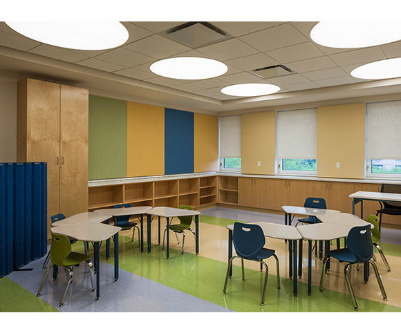 YAI Manhattan Star Academy Classroom for Autism Spectrum Students, Designed by Gran Kriegel Architects in NYC