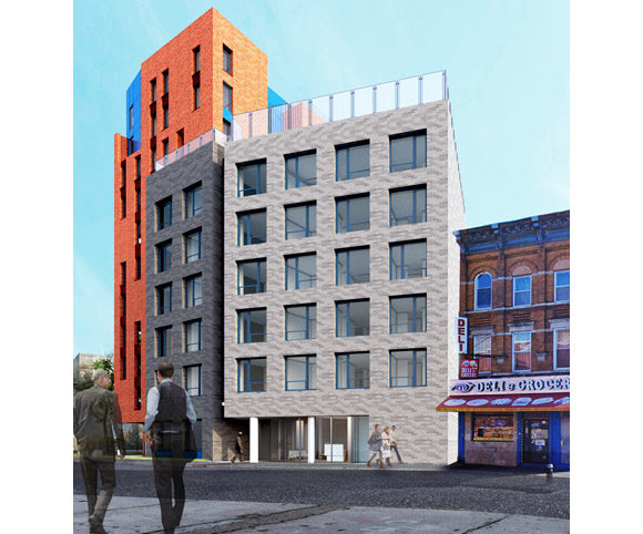 Exterior of Family Services NY Supportive Affordable Housing Design