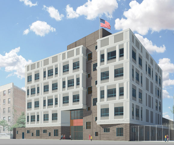 Exterior Design NYC School PS 469X