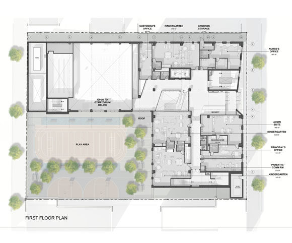 NYC PS 469X School First Floor Floorplan